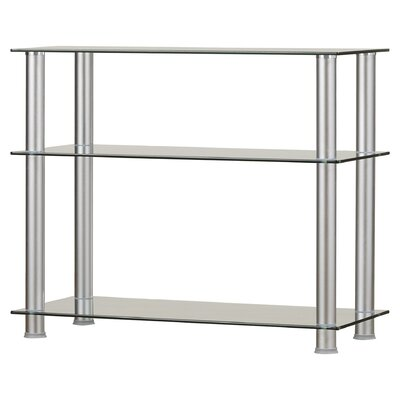 Ellie 20-35 TV Stand Color: Silver, Width of TV Stand: 29.5 H x 35 W x 16 D