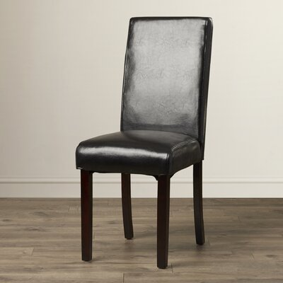 Gabriella Parsons Chair (Set of 2) Upholstery: Black