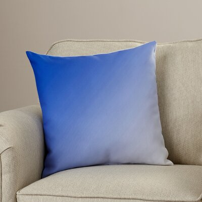 Bonnie Down Blend Throw Pillow Size: 16 H x 16 W, Color: Dazzling Blue