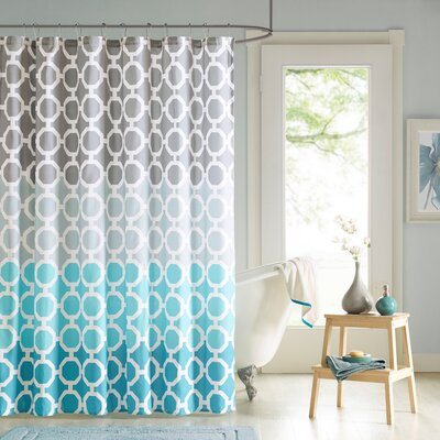 Ada 14 Piece Shower Curtain Set Color: Teal