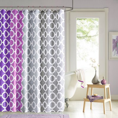 Ada 14 Piece Shower Curtain Set Color: Purple