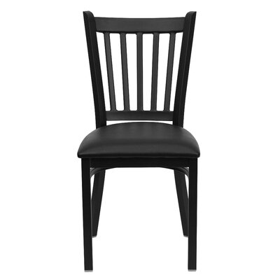 Hera Dining Side Chair Upholstery: Black Vinyl