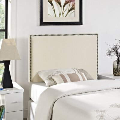 Ragnar Upholstered Foam Panel Headboard Size: Twin, Upholstery: Ivory