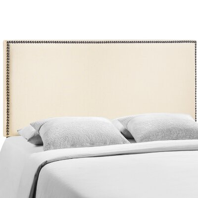 Ragnar Upholstered Foam Panel Headboard Size: Queen, Upholstery: Ivory