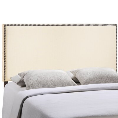 Ragnar Upholstered Foam Panel Headboard Size: Full, Upholstery: Ivory
