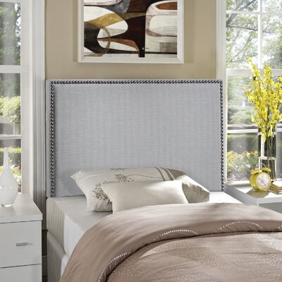 Ragnar Upholstered Foam Panel Headboard Size: Twin, Upholstery: Gray