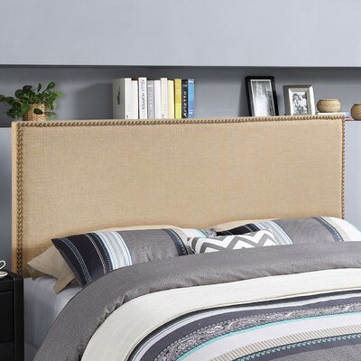 Ragnar Upholstered Foam Panel Headboard Size: Queen, Upholstery: Cafe