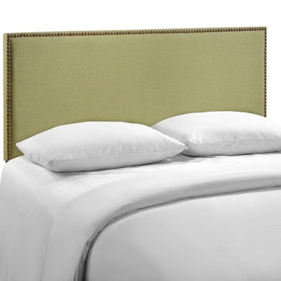 Ragnar Upholstered Foam Panel Headboard Size: Queen, Upholstery: Green