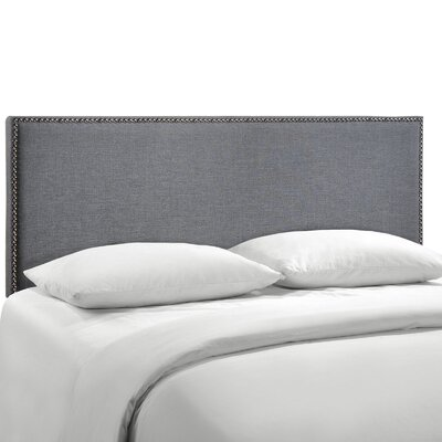 Ragnar Upholstered Foam Panel Headboard Size: Queen, Upholstery: Smoke