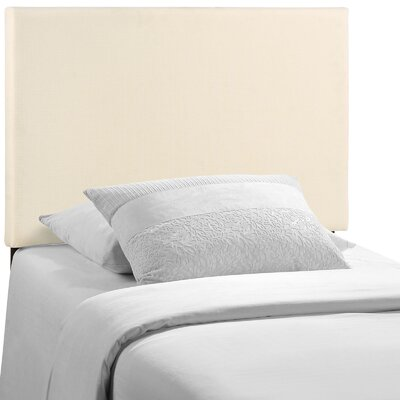 Angelique Upholstered Panel Headboard Upholstery: Gray, Size: Full