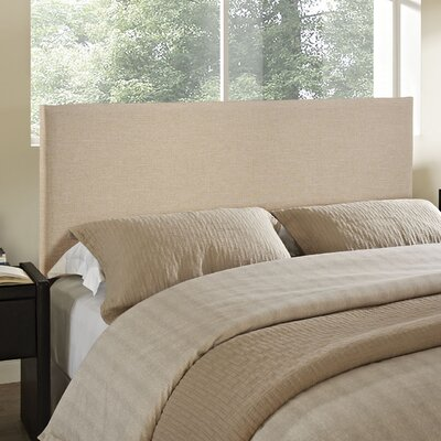 Ragnar Upholstered Panel Headboard Size: Full, Upholstery: Ivory