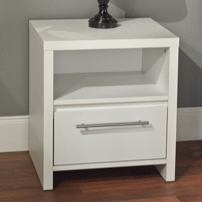 Marylou 1 Drawer Nightstand Finish: Off-White