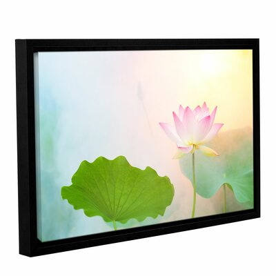 'Serenity' Framed Graphic Art on Wrapped Canvas Size: 12