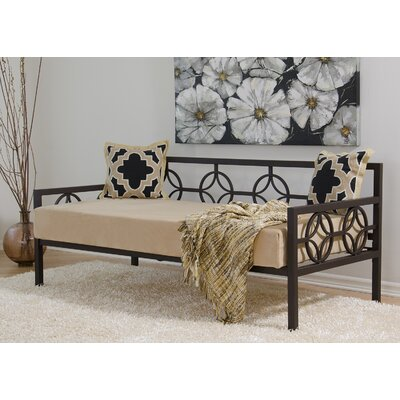 Millerton Metal Frame Daybed Finish: Red, Size: Twin