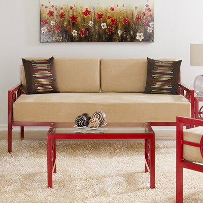 Millerton Modern Daybed with Mattress Size: Sofa Depth, Color: Salsa Red