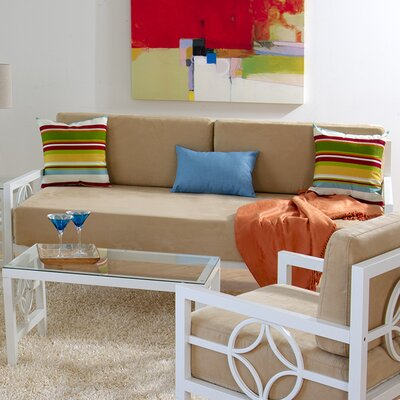 Millerton Modern Daybed with Mattress Size: Sofa Depth, Color: Marshmallow White