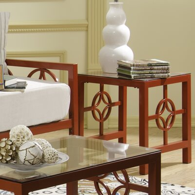 Millerton End Table Color: Red