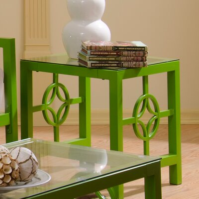 Millerton End Table Color: Green