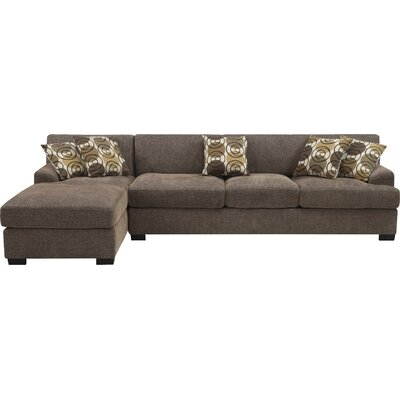 Mila Sectional Upholstery: Faux Linen Slate
