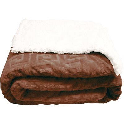 Ronda Textured Sherpa Throw Blanket Color: Light Brown