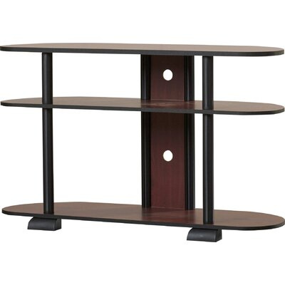Colleen 38.6 TV Stand Color: Dark Cherry and Black