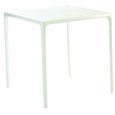 Addie 28 Mango Square Dining Table Finish: White