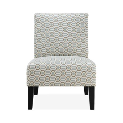 Rosario Slipper Chair Upholstery: Pastel Geometric