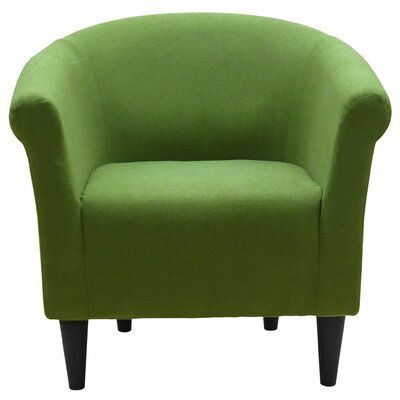 Liam Barrel Chair Upholstery: Fern Green