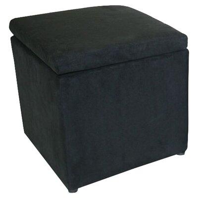 Binx Storage Cube Ottoman Upholstery: Black