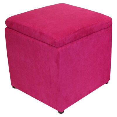 Dorothy Storage Cube Ottoman Upholstery: Pink