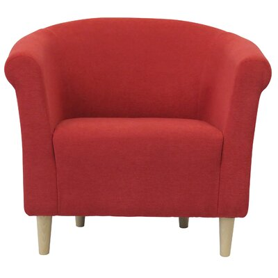 Liam Barrel Chair Upholstery: Marsala Red