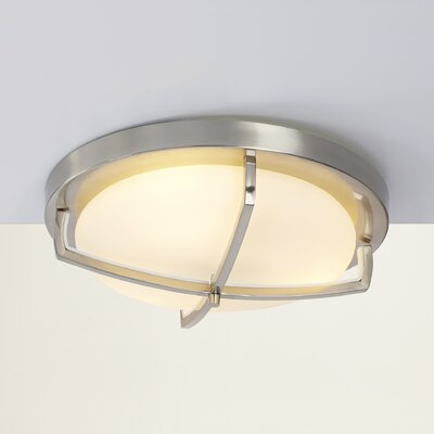 Camille 3-Light Flush Mount Finish: Brushed Nickel