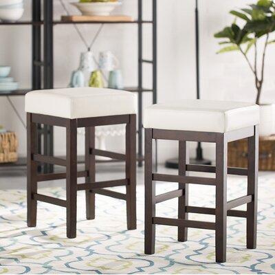 21.25 Bar Stool Upholstery: White