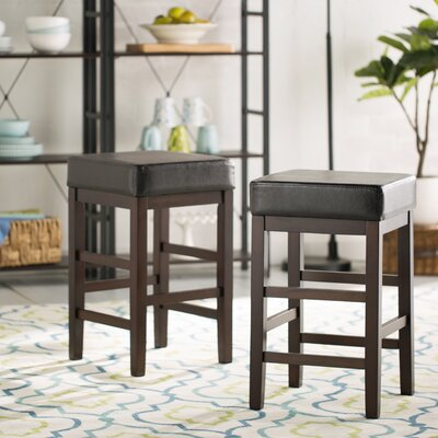 "Image of 21.25"" Bar Stool Upholstery: Espresso"