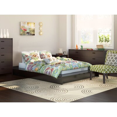 Lorraine Platform Bed Size: Full, Color: Coffee