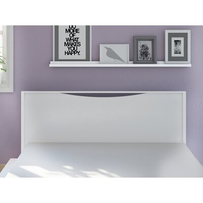 Lorraine Full/Queen Panel Headboard Color: White-Wash Wood Grain