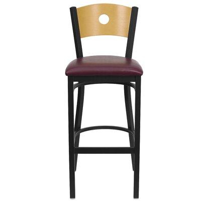 Hera 32 Bar Stool Upholstery: Burgundy Vinyl