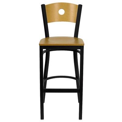 Hera 32 Bar Stool Upholstery: Natural Wood