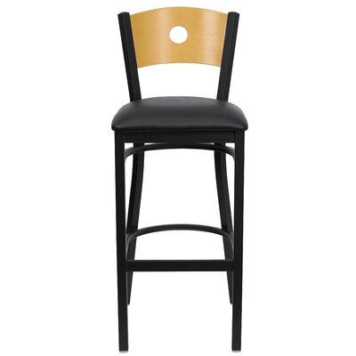 Hera 32 Bar Stool Upholstery: Black Vinyl