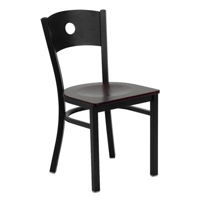 Hera Circle Circle Back Side Chair Upholstery: Mahogany Wood