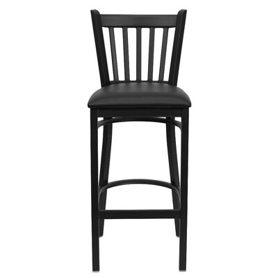 Hera 29.25 Bar Stool Upholstery: Black Vinyl