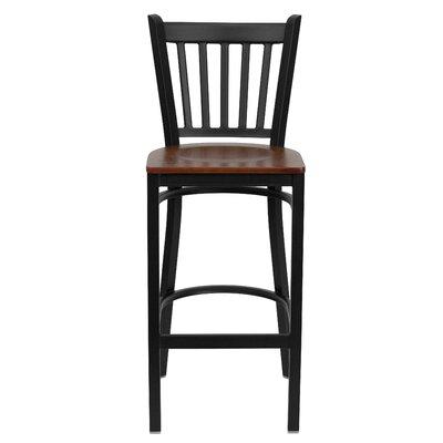 Hera 29.25 Bar Stool Upholstery: Cherry Wood