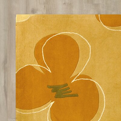 Chidi Hand-Tufted Gold / Assorted Area Rug Rug Size: Rectangle 96 x 136