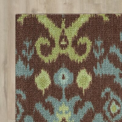 Dorothea Chocolate Area Rug Rug Size: Rectangle 26 x 4