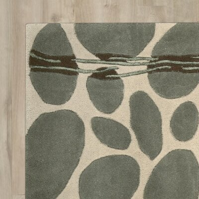 Nevada Hand-Tufted Wool Green/Blue Area Rug Rug Size: 76 x 96