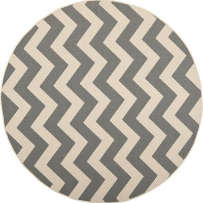 Mullen Indoor/Outdoor Area Rug Rug Size: Round 53