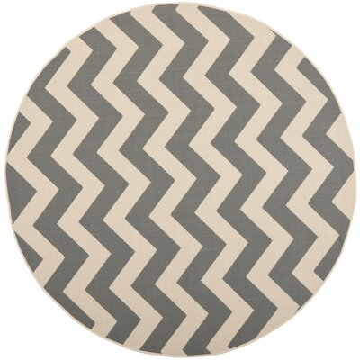 Mullen Indoor/Outdoor Area Rug Rug Size: Round 4