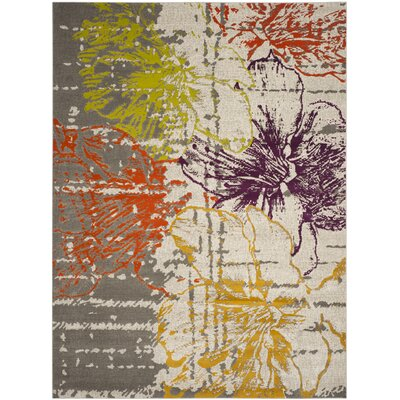 Nanette Beige/Gray Area Rug Rug Size: Rectangle 24 x 5