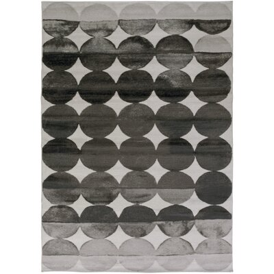 Hudson Charcoal/Light Gray Area Rug Rug Size: 78 x 106