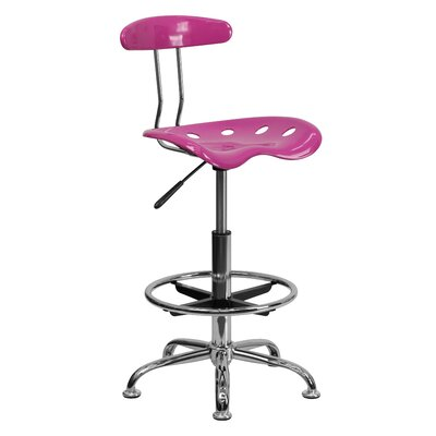 Lila Height Drafting Chair Upholstery: Candy Heart ZIPC2979 28381780